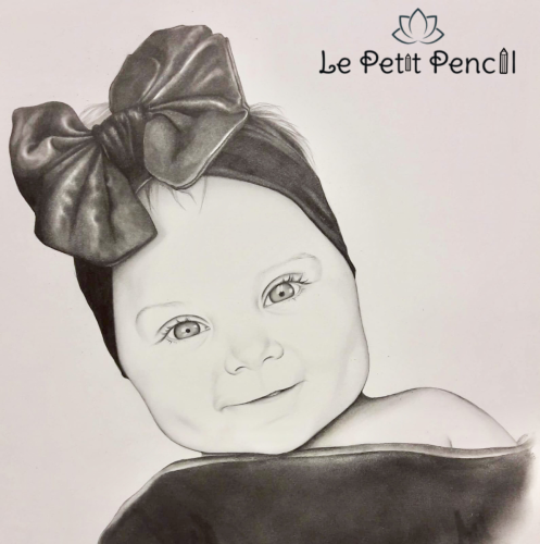 retrato a lapiz le petit pencil rostro niña bella 2